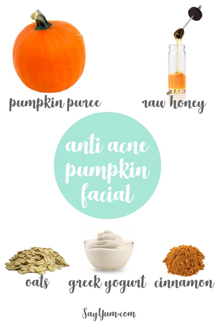 pumpkin facial anti-acne face mask natural beauty say yum