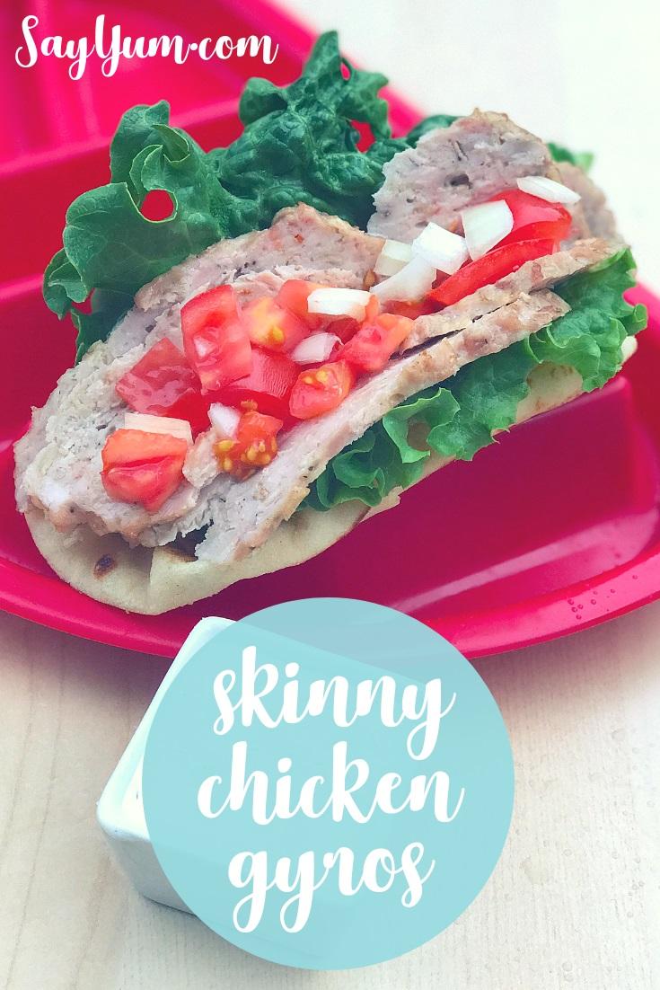 skinny chicken gyros lettuce tomato tzatziki family kid friendly greek global clean real food say yum weeknight dinner